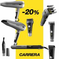 - 20 % на професионалните уреди за коса Carrera
