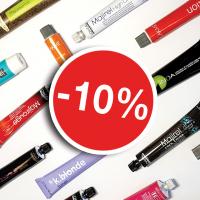- 10 % отстъпка на всички бои за коса през месец май