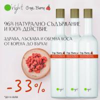 33% отстъпка на най-натуралния шампоан за обем - O'right Goji Berry!