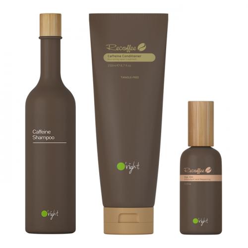Комплект шампоан, балсам и олио за ревитализиране на косата Oright Recoffee