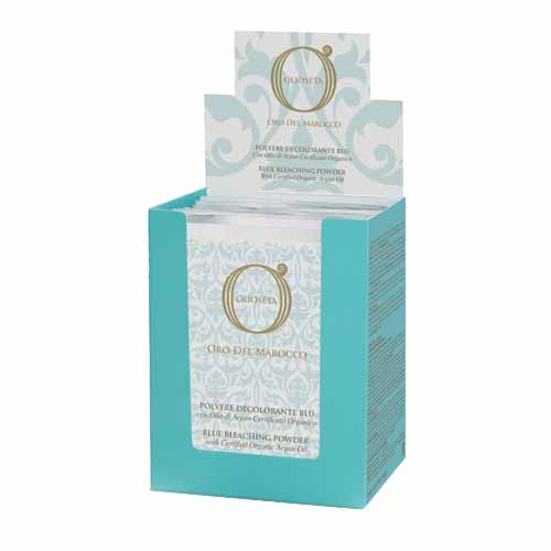 Изсветляваща пудра 12 бр. х 30 гр. Olioseta Oro Del Marocco Blue Bleaching Powder