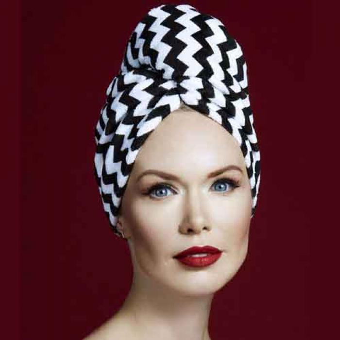 Дизайнерска плажна кърпа за коса Aglique Zig Zag