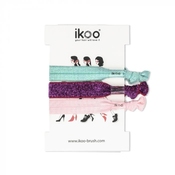 Ластици за коса IKOO Hair Bands 3 броя мента, циклама и розово
