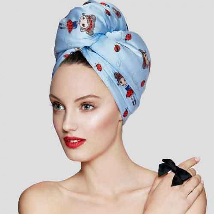 Дизайнерска кърпа за коса Aglique Lady B сатенена
