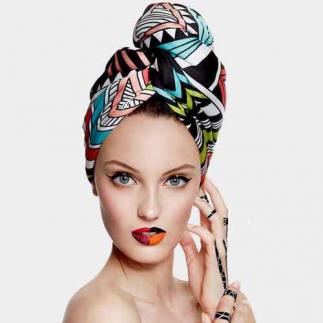 Дизайнерска кърпа за коса Aglique South сатенена
