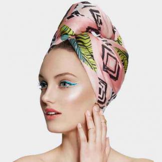 Дизайнерска кърпа за коса Aglique Tropic сатенена
